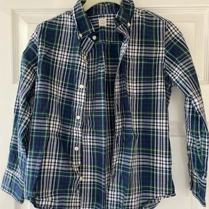 Boys j crew button down shirt, size 10